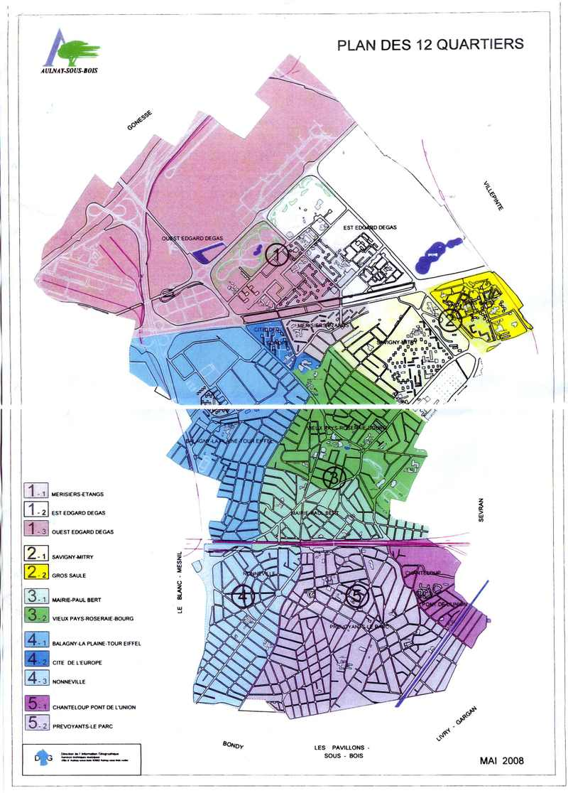 plan de aulnay sous bois - Image