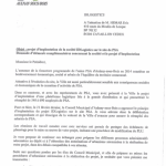 courrier maire