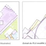 Illustration de la modification du PLU